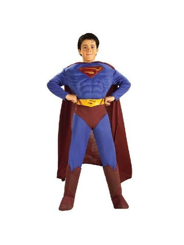 Child's Deluxe Muscle Chest Superman Costume-COSTUMEISH