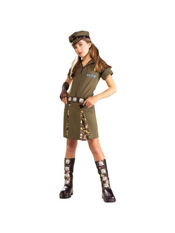 Teen Army Girl Costume