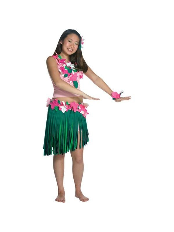 Teen Hula Girl Costume-COSTUMEISH