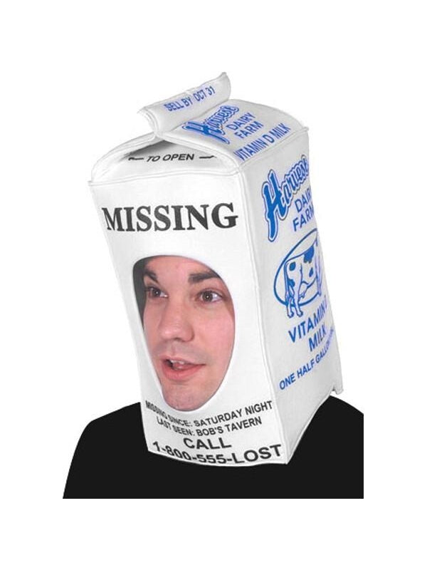 Adult Milk Carton Easy Costume-COSTUMEISH