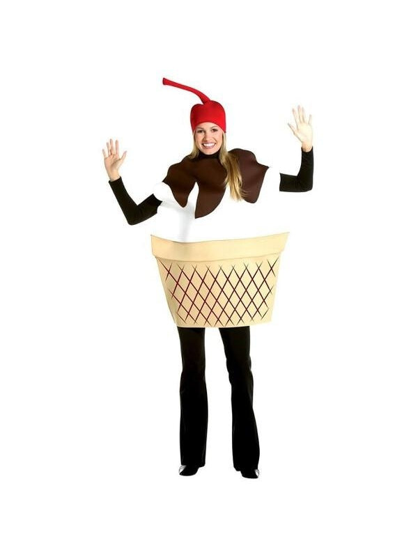 Adult Ice Cream Sundae Costume-COSTUMEISH