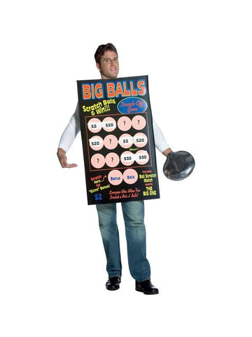 Adult Lottery Ticket Costume-COSTUMEISH