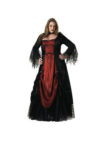 Adult Plus Size Gothic Vampira Costume-COSTUMEISH