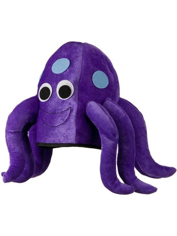 Purple Octopus Hat Funny Costume for Adults or Kids-COSTUMEISH