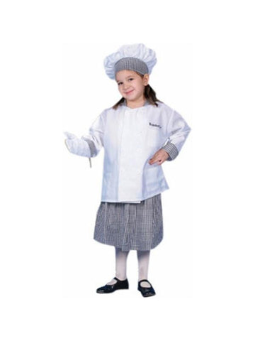 Child's Girl Chef Costume-COSTUMEISH