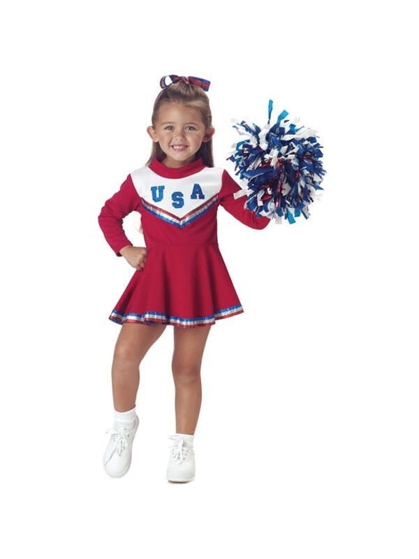 Toddler Red Cheerleader Costume-COSTUMEISH