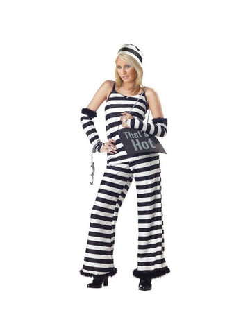 Adult Paris Prison Costume-COSTUMEISH
