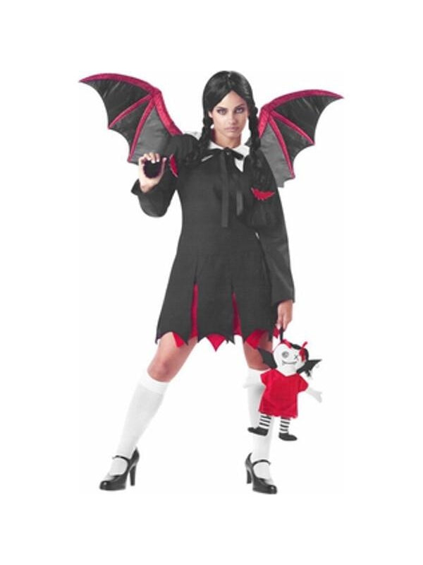 Teen Gothic Bat Girl Costume-COSTUMEISH