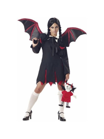 Adult Gothic Bat Girl Costume-COSTUMEISH