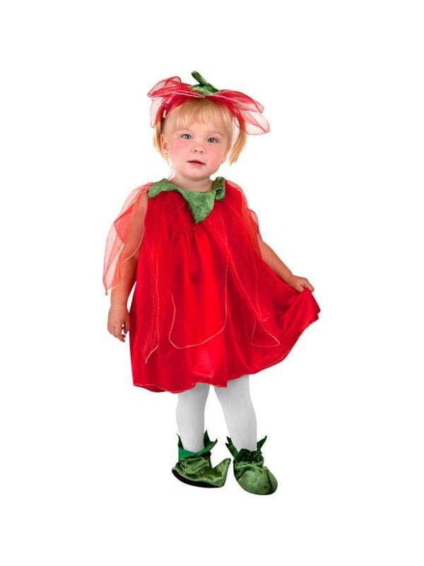 Toddler Strawberry Fairy Costume-COSTUMEISH