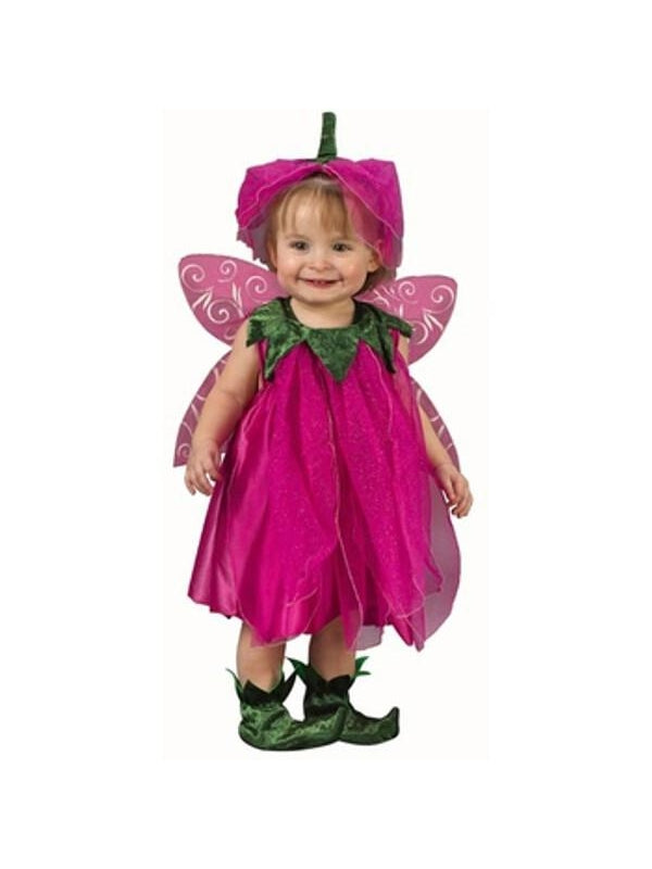 Toddler Pink Tulip Fairy Costume-COSTUMEISH