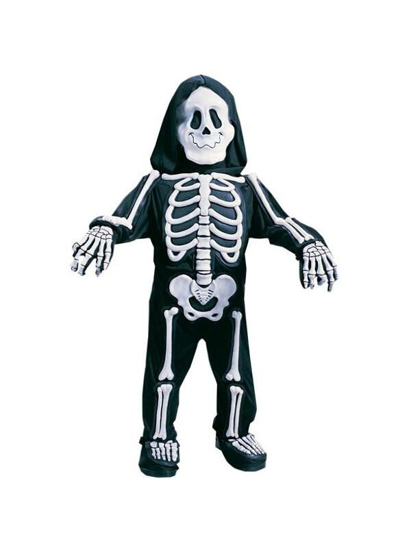Toddler Skeleton Bones Costume-COSTUMEISH