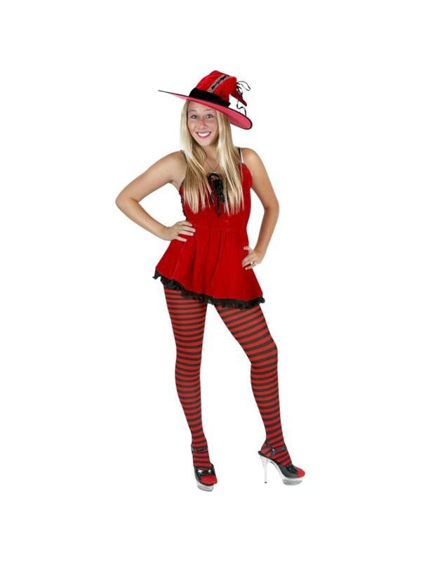 Teen Red Hot Witch Costume-COSTUMEISH