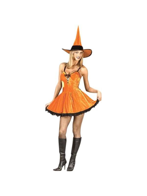 Adult Sexy Pumpkin Witch Costume-COSTUMEISH