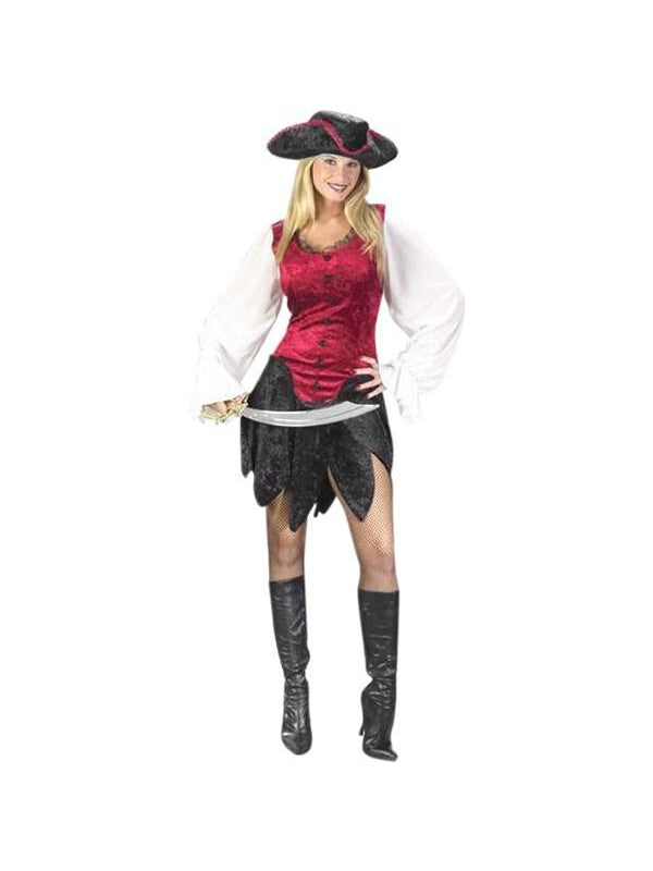 Adult Sexy First Mate Pirate Costume-COSTUMEISH