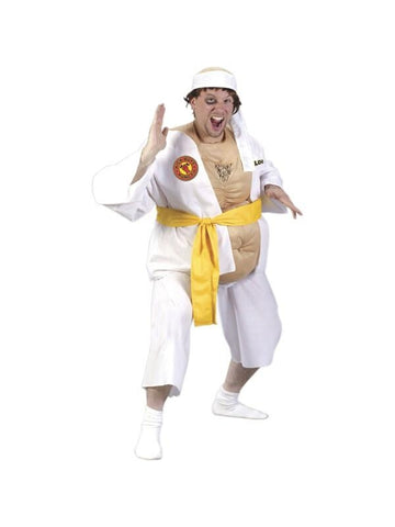 Adult Fat Karate Guy Costume-COSTUMEISH