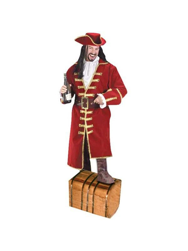 Adult Blackheart Captain Pirate Costume-COSTUMEISH