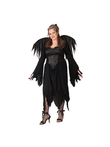 Adult Plus Size Black Rose Fairy Costume