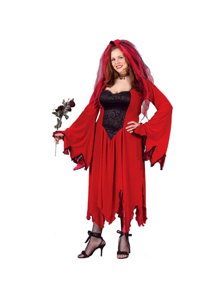 Adult Plus Size Devil Bride Costume-COSTUMEISH