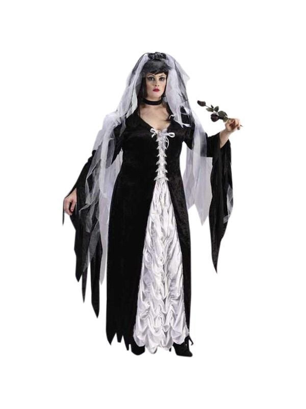Adult Plus Size Bride Of Darkness Costume-COSTUMEISH