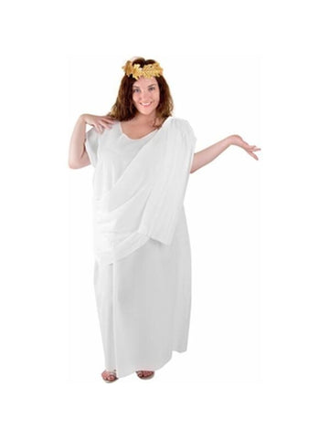 Adult Plus Size Toga Costume-COSTUMEISH