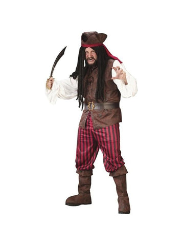 Adult Plus Size High Seas Pirate Costume-COSTUMEISH