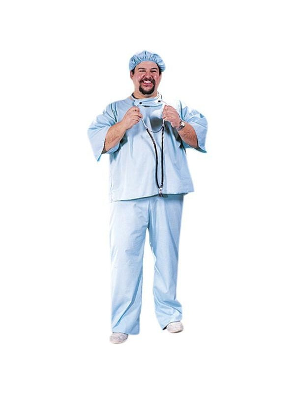 Adult Plus Size Doctor Costume-COSTUMEISH