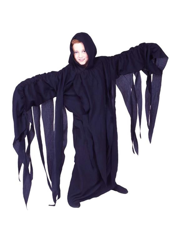 A Thrilling Child's Black Ghoul Costume-COSTUMEISH