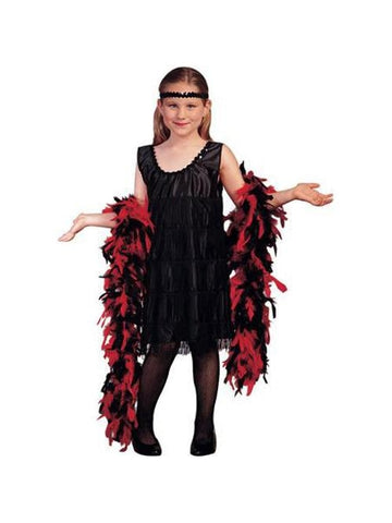 Child's Black Roaring 20s Flapper Costume-COSTUMEISH