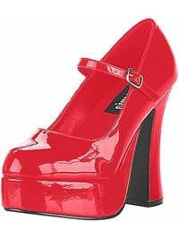 Sexy Red Platform Costume Shoes-COSTUMEISH