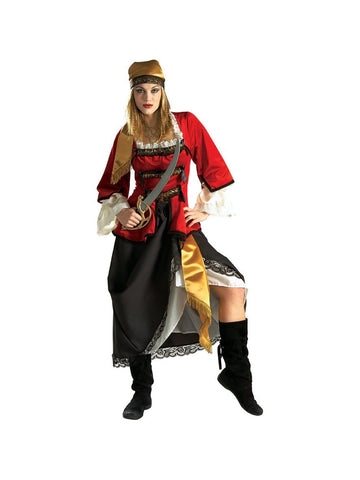 Adult Heritage Lady Pirate Queen Costume-COSTUMEISH