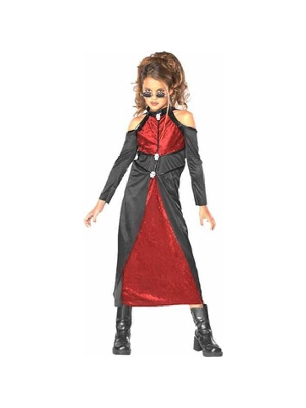 Child's Blood Thirsty Vampira Costume-COSTUMEISH