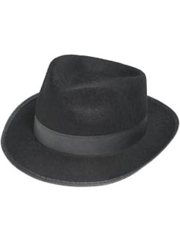 Fedora Gangster Costume Hat-COSTUMEISH