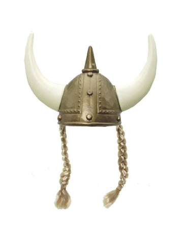 Viking Helmet With Braids
