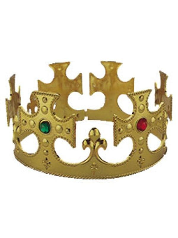 Adult Gold King Costume Crown-COSTUMEISH