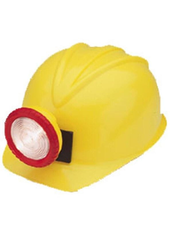 Adult Miner Costume Hard Hat-COSTUMEISH