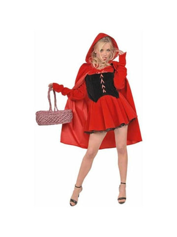 Adult Sexy Dark Red Riding Hood Costume-COSTUMEISH