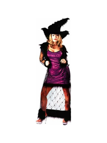 Adult Mystic Purple Witch Costume-COSTUMEISH
