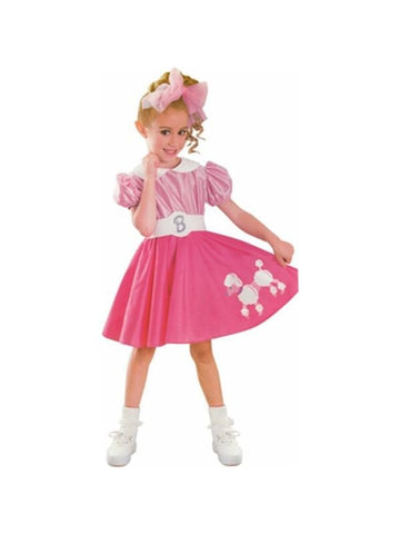 Toddler Bobby Sox Barbie Costume-COSTUMEISH