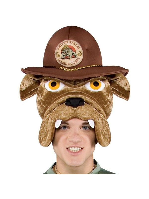 Adult Marine Corps Bulldog Costume Headpiece-COSTUMEISH