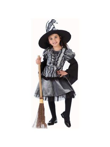 Toddler Gothic Rose Witch Costume-COSTUMEISH