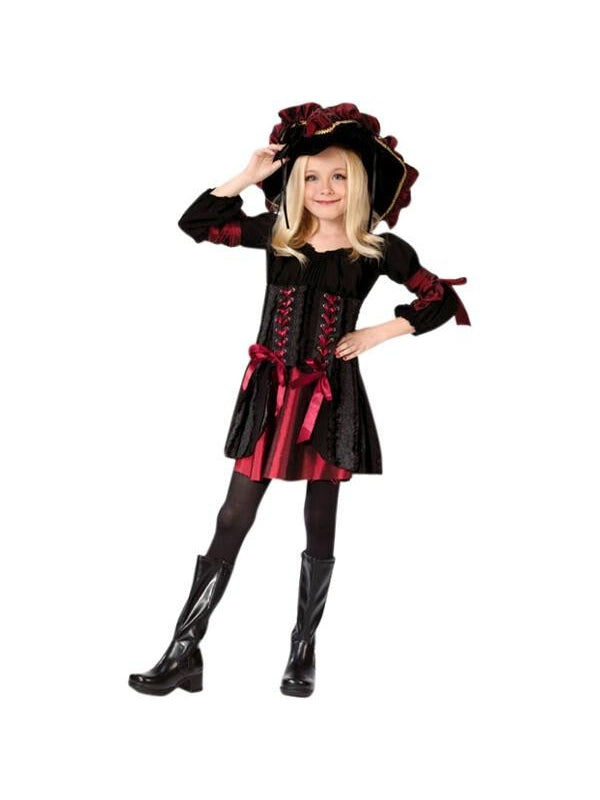 Child' Stitch Pirate Girl Costume-COSTUMEISH