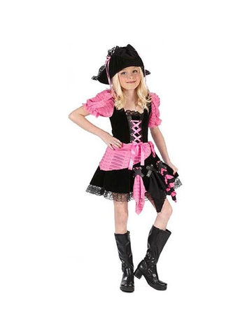 Childs Pink Punk Pirate Costume-COSTUMEISH