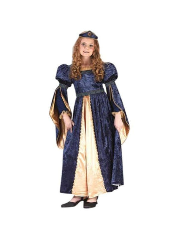 Child's Blue Maiden Princess Costume-COSTUMEISH
