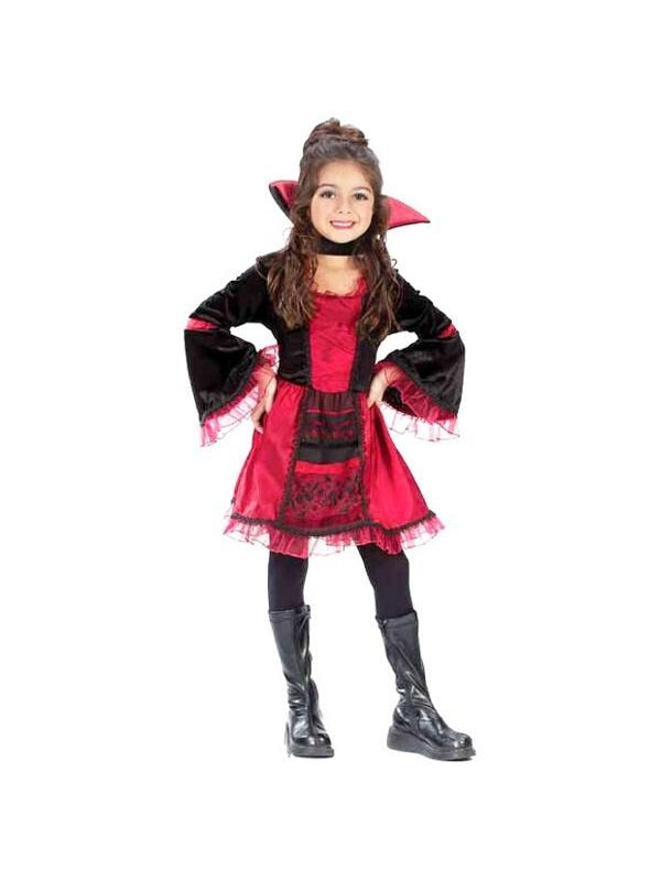 Childs Sassy Victorian Vampiress Costume-COSTUMEISH