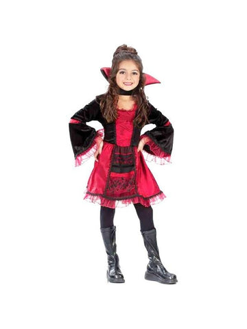 Childs Sassy Victorian Vampiress Costume