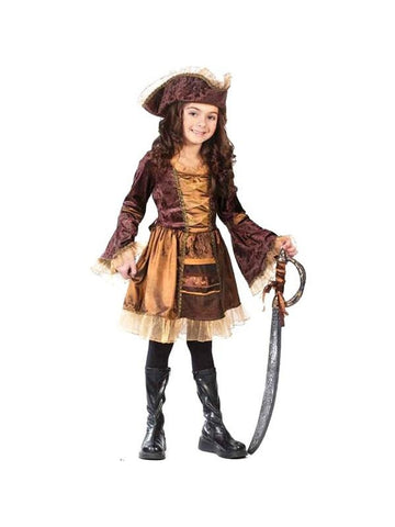 Childs Sassy Victorian Pirate Costume