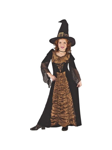Childs Elegant Coffin Witch Costume