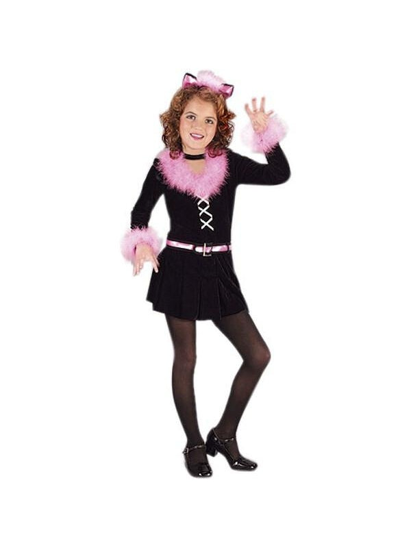 Childs Black Pretty Kitty Costume-COSTUMEISH