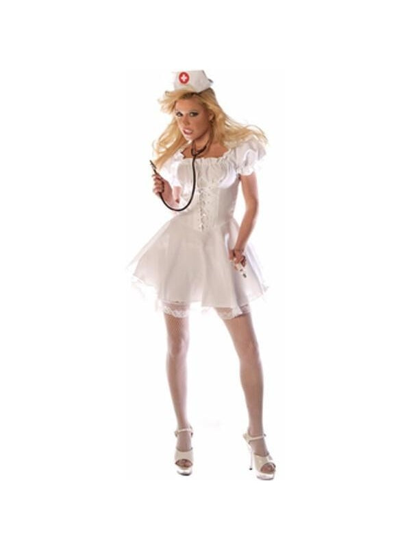 Adult Naughty Nurse Costume-COSTUMEISH